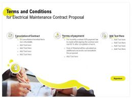 Terms And Conditions For Electrical Maintenance Contract Proposal Ppt Example File