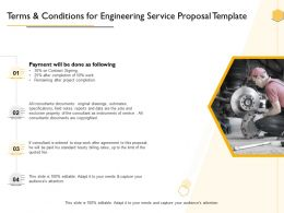 Terms And Conditions For Engineering Service Proposal Template Ppt Powerpoint Presentation Guide