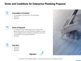 Terms And Conditions For Enterprise Plumbing Proposal Ppt Powerpoint Presentation Pictures Themes