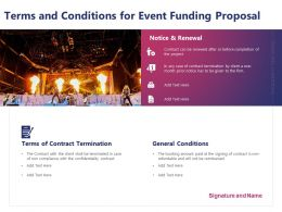Terms And Conditions For Event Funding Proposal Ppt Powerpoint Example 2015