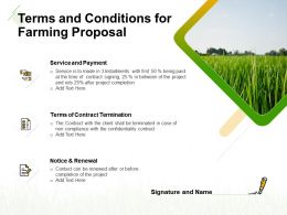 Terms And Conditions For Farming Proposal Ppt Powerpoint Presentation Images