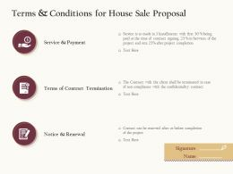 Terms And Conditions For House Sale Proposal Ppt Powerpoint Presentation Visual Aids Show