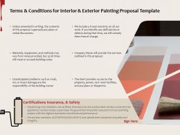 Terms And Conditions For Interior And Exterior Painting Proposal Template Ppt Powerpoint Presentation