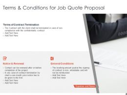Terms And Conditions For Job Quote Proposal Ppt Powerpoint Presentation Slides