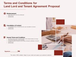 Terms And Conditions For Land Lord And Tenant Agreement Proposal Ppt Powerpoint Presentation Slide