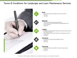 Terms And Conditions For Landscape And Lawn Maintenance Services Ppt Slides