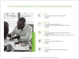 Terms And Conditions For Lawn And Landscape Services Ppt Slides