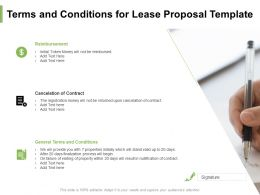 Terms And Conditions For Lease Proposal Template Ppt Powerpoint Presentation Summary