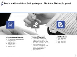 Terms And Conditions For Lighting And Electrical Fixture Proposal Ppt Powerpoint Presentation