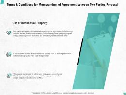 Terms And Conditions For Memorandum Of Agreement Between Two Parties Proposal Ppt Show