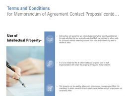 Terms And Conditions For Memorandum Of Agreement Contact Proposal Contd Ppt Icon