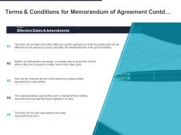 Terms And Conditions For Memorandum Of Agreement Contd Ppt Powerpoint Presentation Infographic