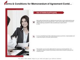 Terms And Conditions For Memorandum Of Agreement Contd Strategy Ppt Powerpoint Slide