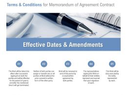 Terms And Conditions For Memorandum Of Agreement Contract Ppt Samples