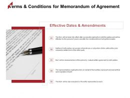 Terms And Conditions For Memorandum Of Agreement Effective Ppt Powerpoint Presentation Gallery