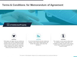 Terms And Conditions For Memorandum Of Agreement Ppt Powerpoint Presentation Slides