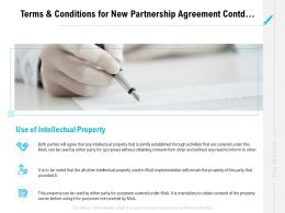 Terms And Conditions For New Partnership Agreement Contd Ppt Formats