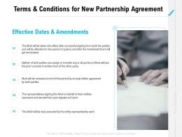 Terms And Conditions For New Partnership Agreement Ppt Powerpoint Slides