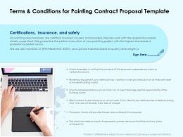 Terms And Conditions For Painting Contract Proposal Template Ppt Portfolio Topics