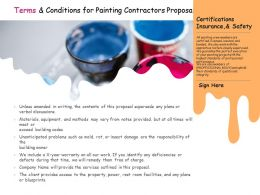 Terms And Conditions For Painting Contractors Proposal Ppt Powerpoint Presentation Styles