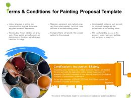 Terms And Conditions For Painting Proposal Template Ppt Powerpoint Presentation Layouts