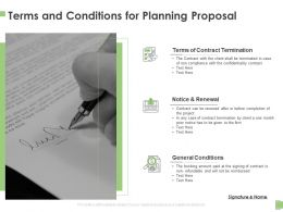 Terms And Conditions For Planning Proposal Ppt Powerpoint Presentation Summary Templates