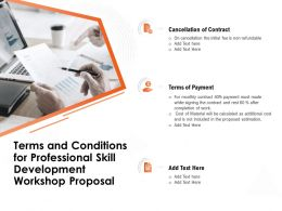 Terms And Conditions For Professional Skill Development Workshop Proposal Cost Material Ppt Files