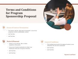 Terms And Conditions For Program Sponsorship Proposal Ppt Powerpoint Presentation File