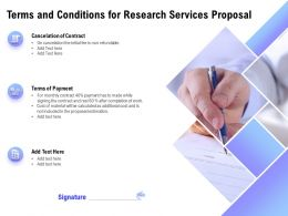 Terms And Conditions For Research Services Proposal Ppt Powerpoint Influencers