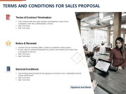 Terms And Conditions For Sales Proposal Ppt Powerpoint Presentation Infographic