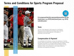 Terms And Conditions For Sports Program Proposal Ppt Powerpoint Presentation Gallery