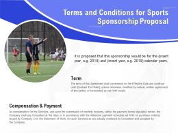 Terms And Conditions For Sports Sponsorship Proposal Ppt Powerpoint Presentation Show