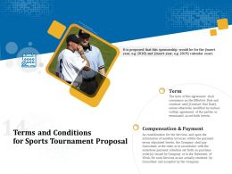 Terms And Conditions For Sports Tournament Proposal Ppt Powerpoint Images