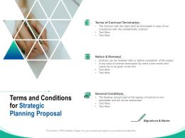 Terms And Conditions For Strategic Planning Proposal Ppt Powerpoint Model