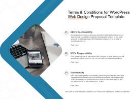 Terms And Conditions For Wordpress Web Design Proposal Template Powerpoint Slides