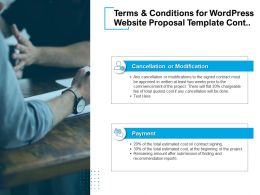 Terms And Conditions For WordPress Website Proposal Template Cont Ppt Presentation Deck