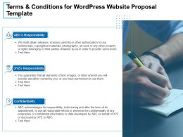 Terms And Conditions For WordPress Website Proposal Template Ppt Presentation Outline