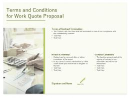 Terms And Conditions For Work Quote Proposal Ppt Powerpoint Presentation Ideas Themes