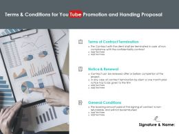 Terms And Conditions For You Tube Promotion And Handing Proposal Ppt Slides