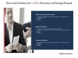 Terms And Conditions For Youtube Promotion And Strategy Proposal Ppt Slides