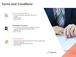 Terms And Conditions Insurance Ppt Powerpoint Presentation File Summary