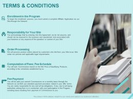 Terms And Conditions Order Processing Ppt Powerpoint Presentation Infographic
