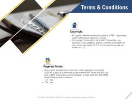 Terms And Conditions Payment Ppt Powerpoint Presentation Brochure