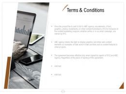 Terms And Conditions Ppt Powerpoint Presentation Slides Deck
