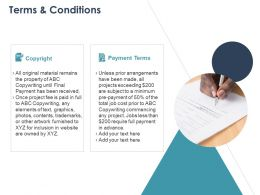 Terms And Conditions Ppt Powerpoint Presentation Styles Ideas
