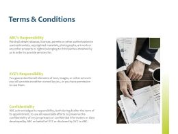 Terms And Conditions Responsibility Ppt Powerpoint Presentation Styles
