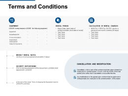 Terms And Conditions Security Deposit Ppt Powerpoint Presentation Format