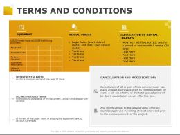 Terms And Conditions Security Ppt Powerpoint Presentation Pictures Examples