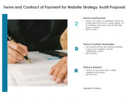 Terms And Contract Of Payment For Website Strategy Audit Proposal Ppt Powerpoint Presentation Styles Grid