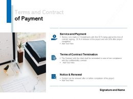 Terms And Contract Of Payment Ppt Powerpoint Presentation File Guidelines